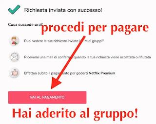 conferma adesione gruppo condiviso together price di netflix premium