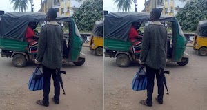 Man Spotted Hanging Around With AK-47 Assault Riffle in Owerri