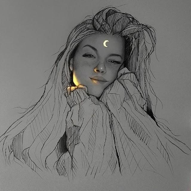 portrety rysowane światłem