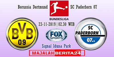 Prediksi Borussia Dortmund vs SC Paderborn — 10 November 2019