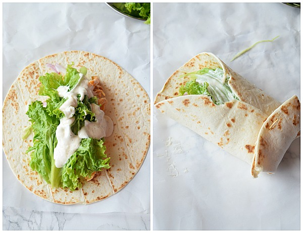 How to wrap a buffalo Chicken Wrap