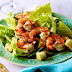 Grilled Shrimp with Caesar Salad and Creamy Dressing