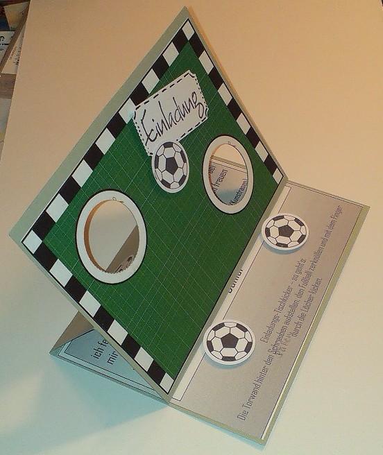mamapias stempelecke fu ball einladung. Black Bedroom Furniture Sets. Home Design Ideas