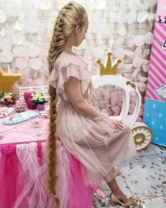 "Alyona last sheared when she was 5 years old - 28 years ago. Today, Kravchenko's hair reaches 2 meters in length, and it is called the ""Ukrainian Rapunzel"""