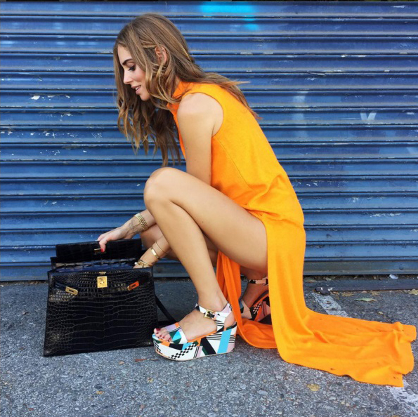 Chiara Ferragni com uma de suas plataformas