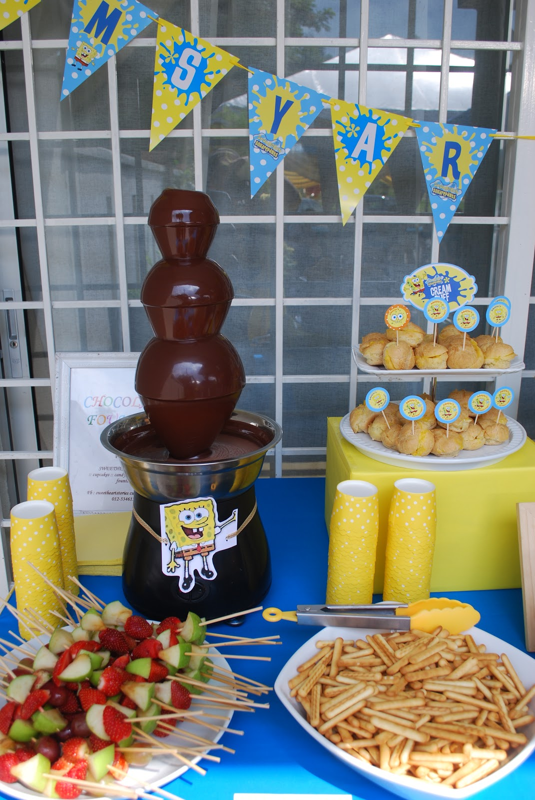 Sweetheartstories Chocolate Fountain Amsyar Birthday Party