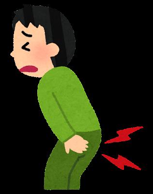 お尻をぶつけた人のイラスト(男性)