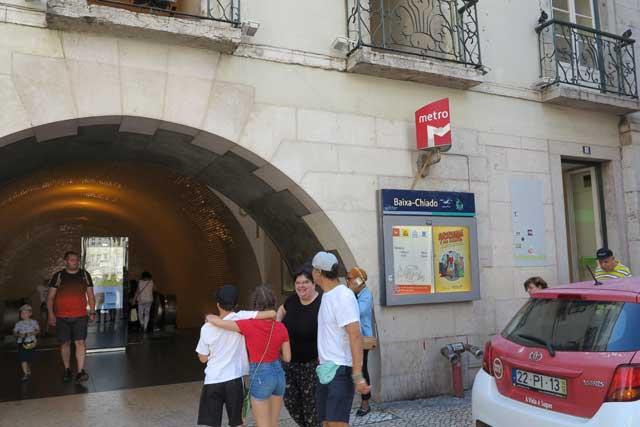 Baixa-Chiado Metro Station Lisbon
