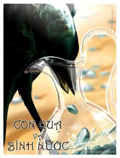 Con quạ và bình nước | Truyện ngụ ngôn cho bé