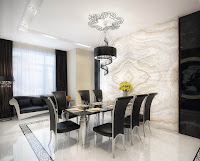 Dining room furniture idea features black dining sets