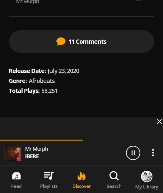 "MR MURPH'S ALBUM ""IBERE"" HITS OVER 58,250 LISTENERS WORLDWIDE"