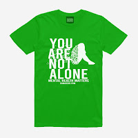 GOMAGEAR You Are Not - Mental Health Matters Unisex Tee - Light Green