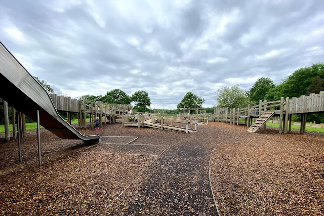 Hylands Estate Playground is designed as an accessible castle