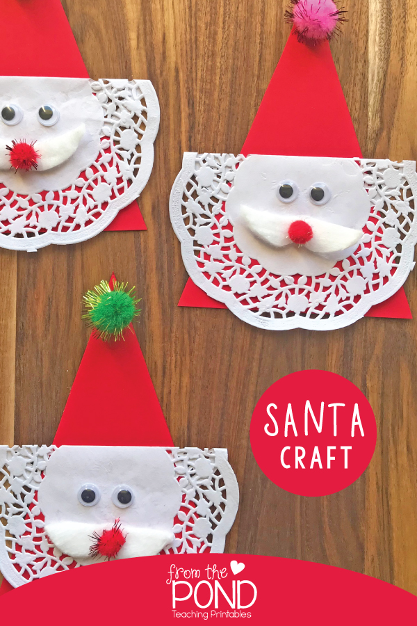 Easy Santa Craft For Kids From The Pond