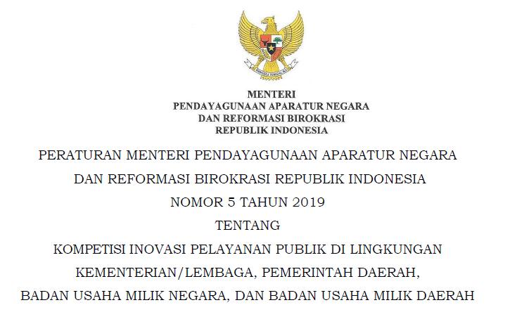 Permenpan Nomor 5 Tahun 2019