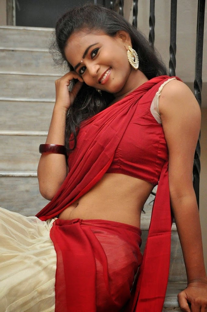 Actress Chaitra Saree Below Navel Show Photos #Chaitra