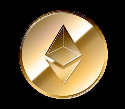 仮想通貨Ethereumのフリー素材(金貨ver)