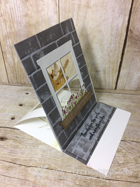 Easel Window Card, Hearht & Home Famelits, Dragonfly Dream Framelits, Stampin'Up