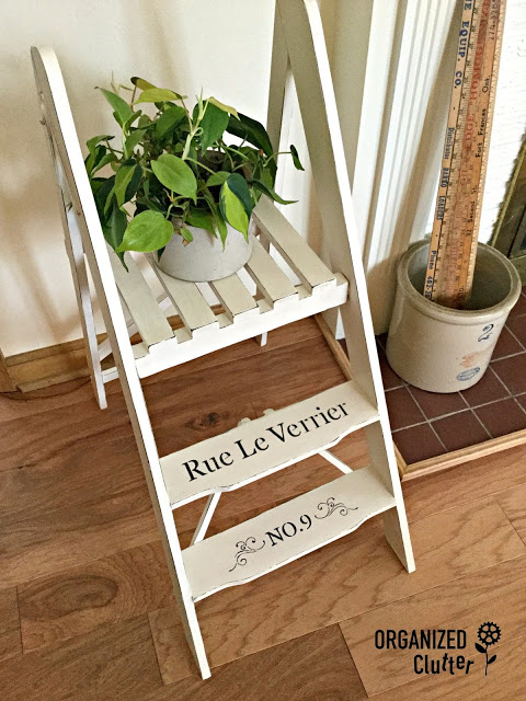 French Style Upcycle of a Thrift Shop Find #chalkpaint #stencil