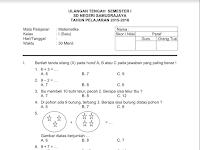 Soal UTS SD Semester 1 Kelas 1, 2, 3, 4, 5, dan 6 KTSP