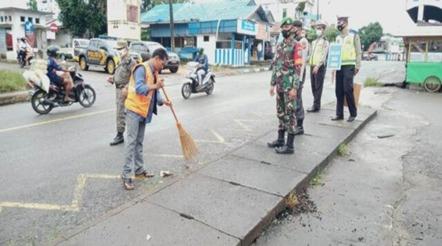 Terus Upayakan Penegakan Disiplin Protokol, Ini yang dilakukan Koramil 1012-10/ Kota Buntok