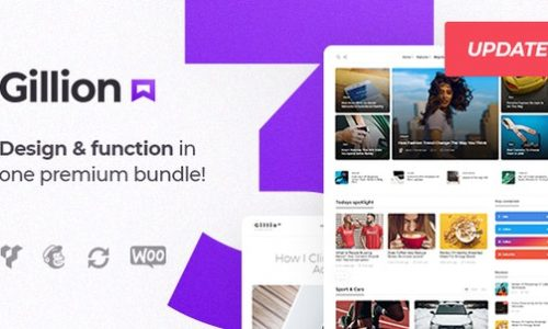Gillion v3.4.4 Nulled Free - Multi-Concept WordPress Theme