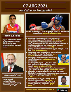 Daily Malayalam Current Affairs 07 Aug 2021