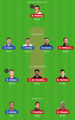 ENG vs NZ Dream11 team