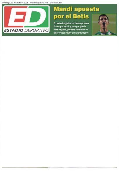 """Estadio Deportivo: """"Mandi apuesta por el Betis"""""""