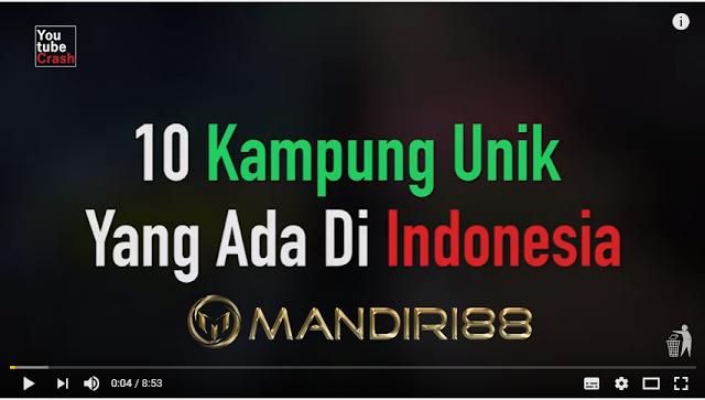 Wajib Lihat !! 10 Kampung Terunik yang Ada di Indonesia