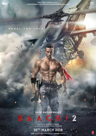 Baaghi 2 2018 Pre DVDRip 350Mb Full Hindi Movie Download 480p Watch Online Free bolly4u