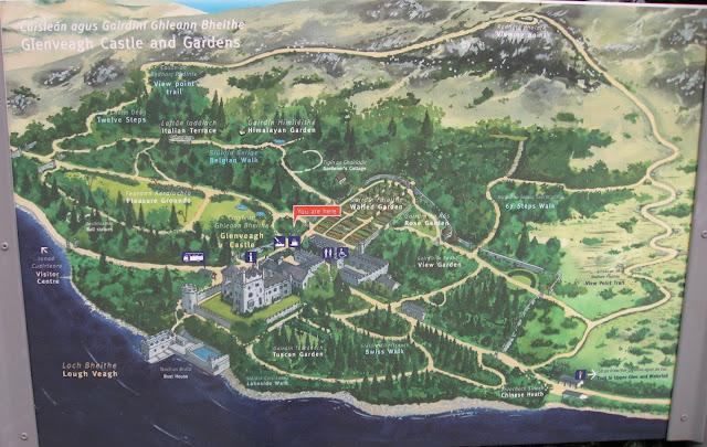 map of Glenveagh Castle