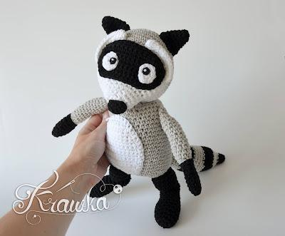 Krawka: Raccoon crochet pattern