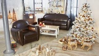 sala decoración navideña