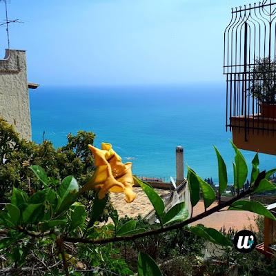 Balcony landscape view, Taormina | Sicily, Italy | wayamaya