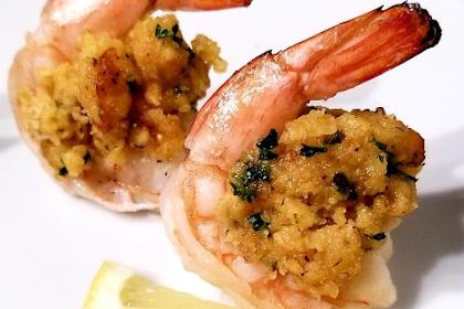 Oven Baked Stuffed Shrimp