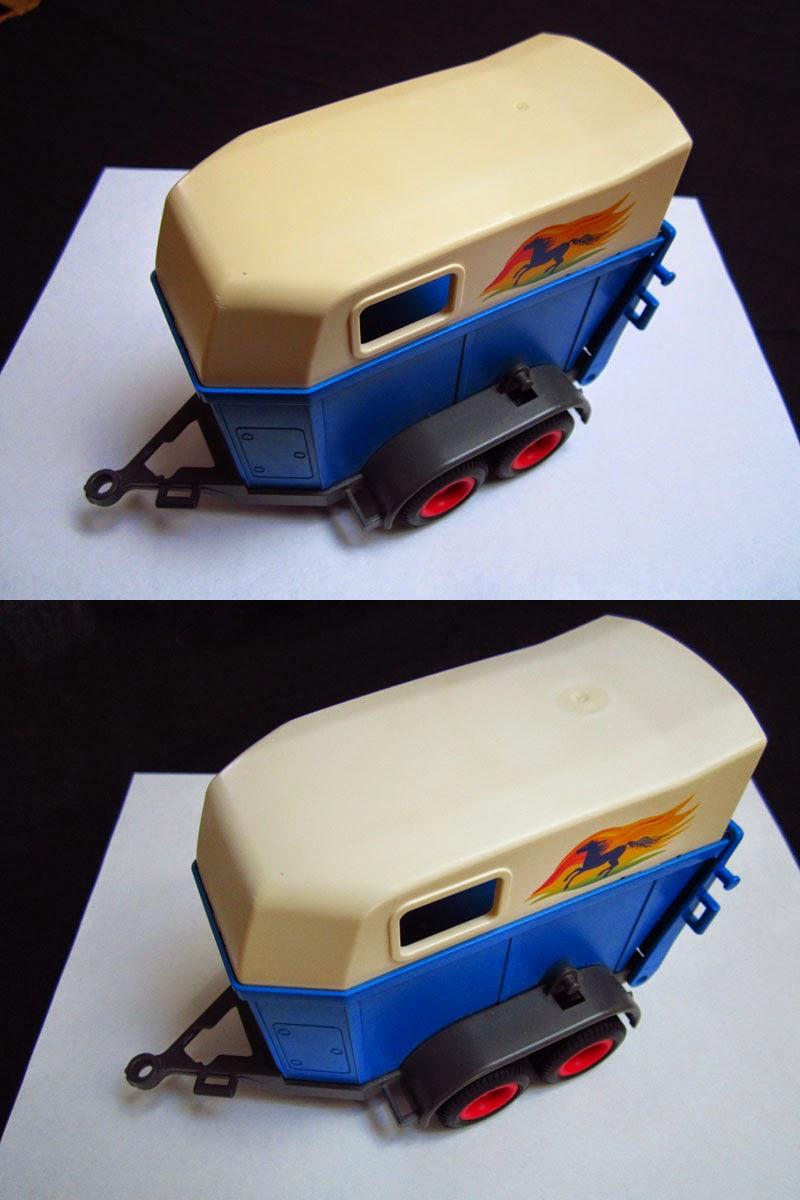 Retrobright playmobil avant-après