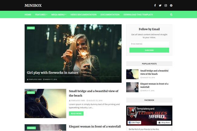 MiniBox - Blogger Template