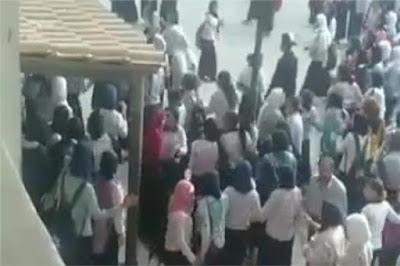 شجار بين طالبتين في مدرسة ثانوية في مصر
