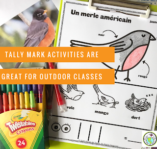 Tally Mark Activities for World Language Outdoor Classroom