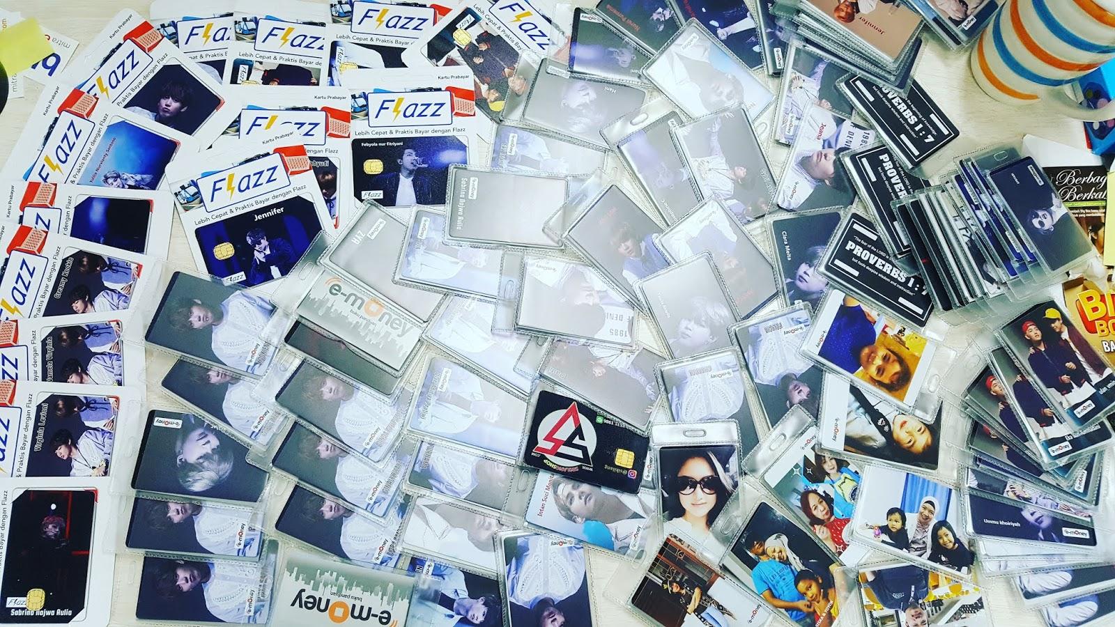 Hasil Produksi Custom Sikilang Shop Cetak Emoney Rp20000 Kartu E Money Toll Flazz Print Jasa Mandri