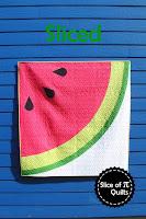 Sliced watermelon quilt pattern