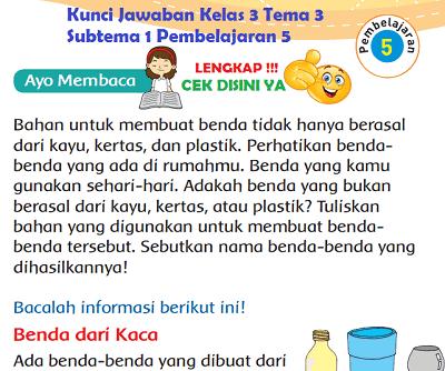 Lengkap Kunci Jawaban Kelas 3 Tema 3 Subtema 1 Pembelajaran 5 Kunci Jawaban Tematik Lengkap Terbaru Simplenews