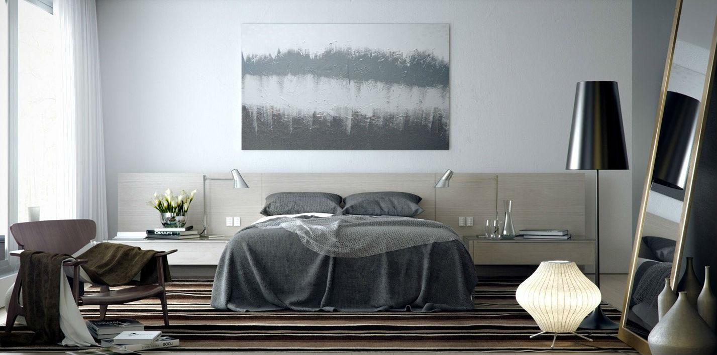 Habitaciones modernas y elegantes dormitorios colores y for Habitacion matrimonial moderna
