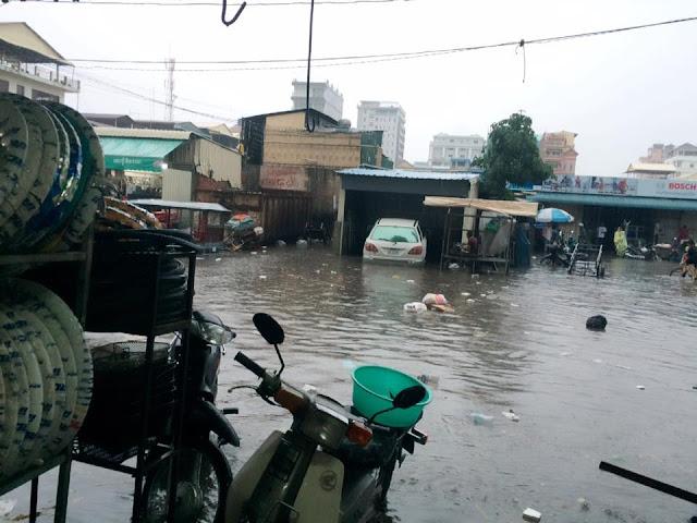 Inondations dans un quartier populaire