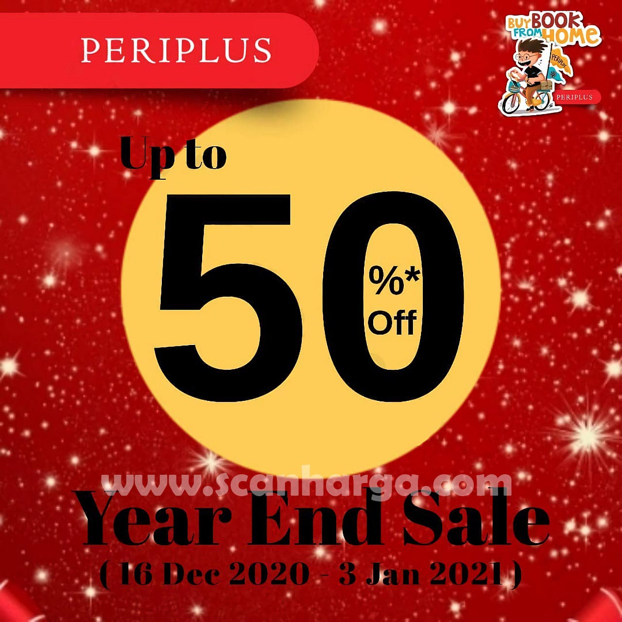 Promo PERIPLUS Year End SALE Discount Up To 50% Off
