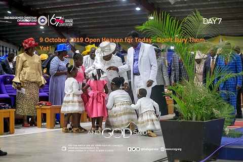 9 October 2019 Open Heaven for Today - Don't Bury Them Yet!