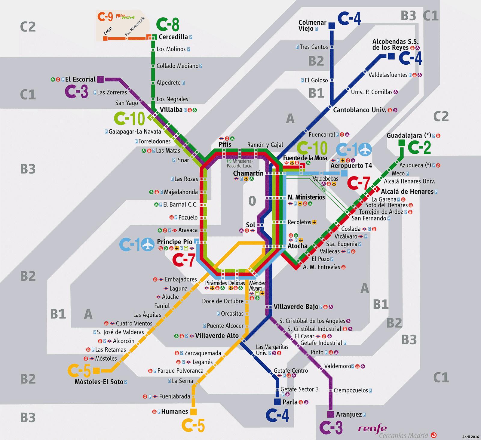 Mapa Cercanias Madrid 2017.Refuerzo Del Servicio De Renfe Cercanias Por El World Pride