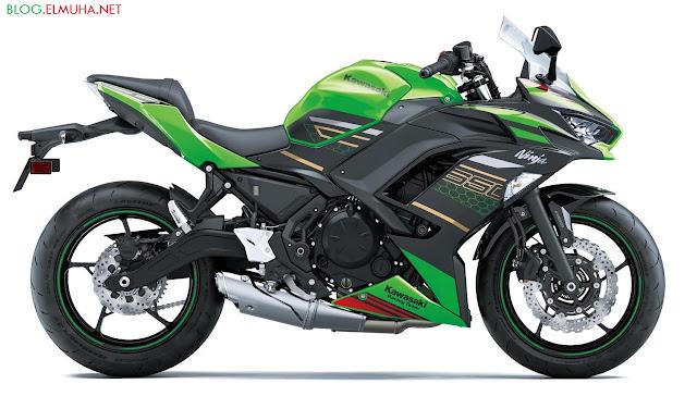 Kawasaki Ninja 650 2020 KRT hijau samping