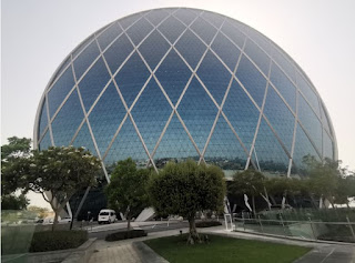 Edificio Aldar Headquarters o Aldar Headquarters Building. Abu Dabi, Abu Dhabi, Emiratos Árabes Unidos.